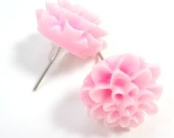 Light Pink Flower Post Earrings