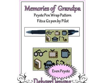 Bead Pattern Peyote(Pen Wrap/Cover)-Memories of Grandpa