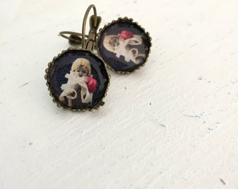 Porcelain Doll Earrings Adventures of Claudia Leverback Doll Photography SALE