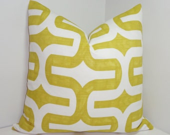 Decorative Pillow Cover Lime Citrine Geometric Pillow Cover 18x18 20x20 Throw Pillow Embrace