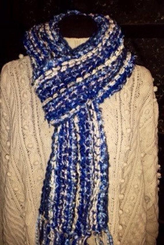 University of Kentucky Basketball Wildcat Knit Scarf - Blue Knit Scarf - Women's  Accessories - UK Basketball Scarf