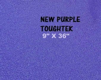 Purple  Rubber Fabric, Shoe Sole Material, Waterproof Rubber Fabric,  Neoprene Fabric, ToughTek Fabric, Non Slip Fabric, 9 X 36 Sheet