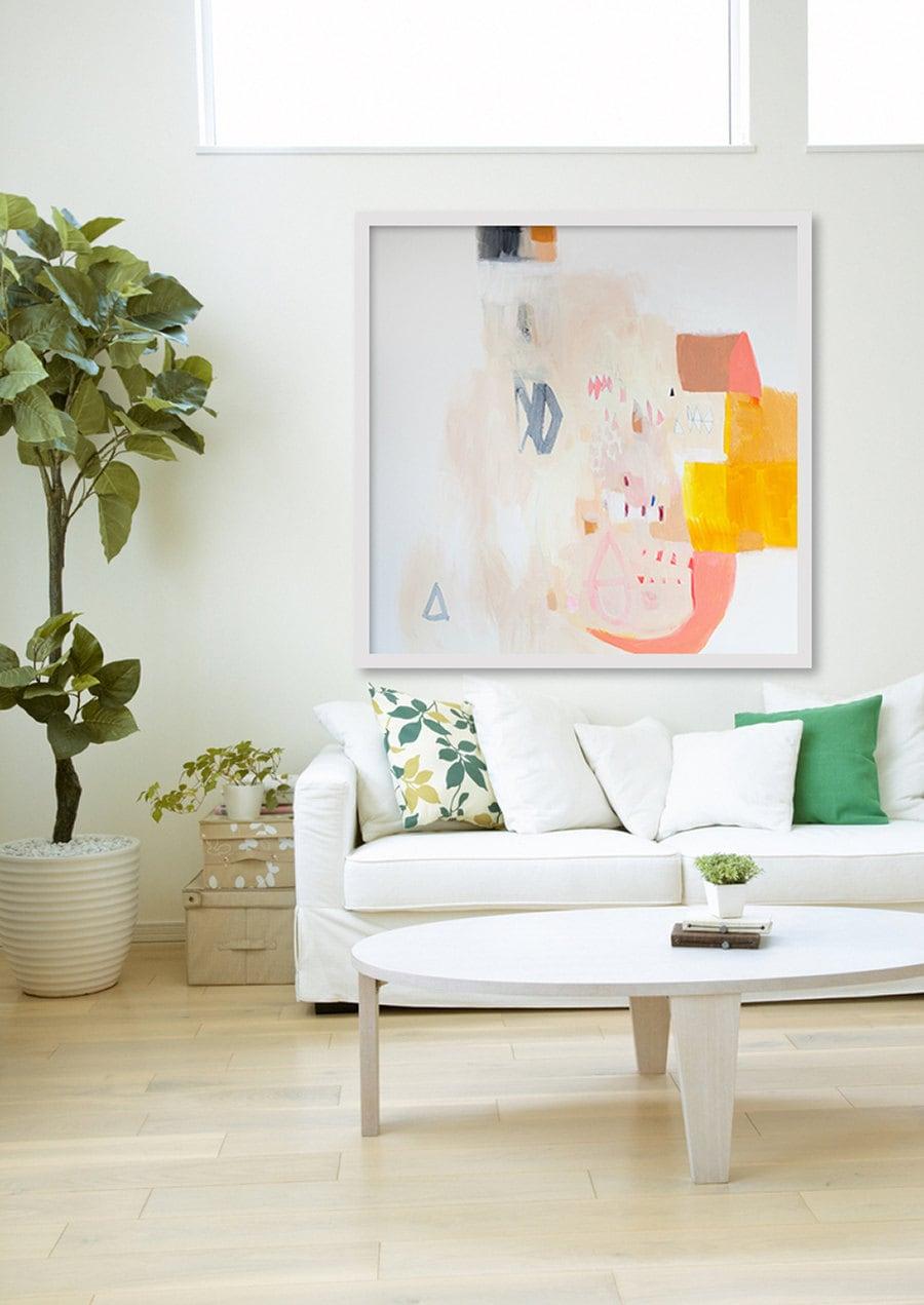 Gran lámina Giclée Resumen de impresión de la pintura