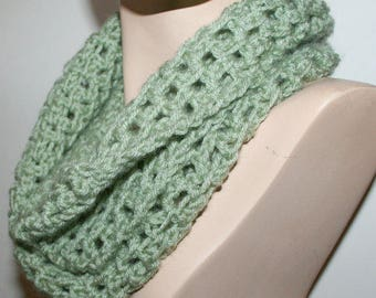 Crochet Infinity Scarf Pattern Cowl or Long Scarf Pattern UK Conversion 3 Sizes Airy Woven Look GUIDE using your favorite size crochet hook