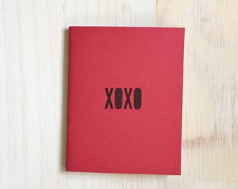 Medium Notebook: Valentine's Day, XOXO, Cute, Red, Valentine, Cute Notebook, Love, Valentine, Gift, For Her, For Him, Unique, I226