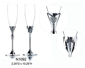Wedding Toasting Flutes Champagne Dress Tuxcedo Personalized Engraved