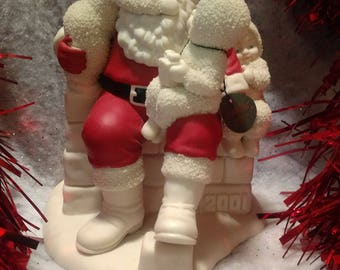 "Department 56 Snowbabies Christmas with Santa ""We've Been Really Good' 69915"