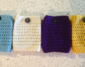Boot Warmers- Aqua, Antique White, Purple, or Sunflower