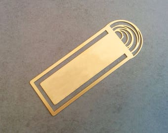 Gold Bookmark, Personalize Bookmark, Name Bookmark, Book Club Gift, Metal Bookmark, Personalise Bookmark, Engraved Bookmark