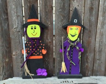 Halloween Witch Decoration Reclaimed Wood pallet wood