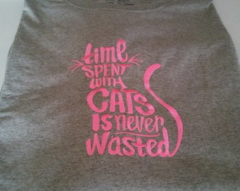 Cat lovers tee shirt..makes a great gift