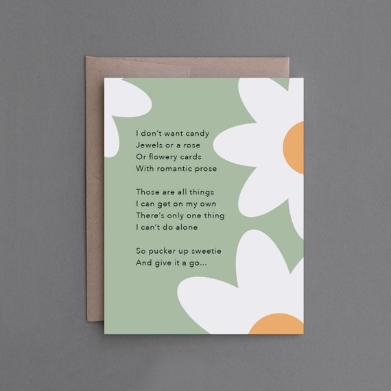 Funny Love Card. For Man, Husband, Boyfriend, Lesbian. Naughty, Sexy,  Mature, Adult. Anniversary, Valentine's.