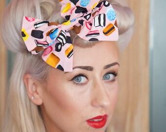 Pink Liquorice Allsorts Large Hair Bow