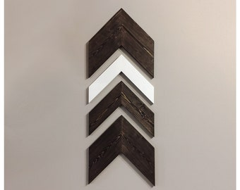 Set of 4 Large Wooden Chevron Arrows