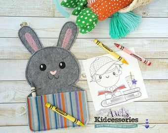Easter Bunny Crayon Holder - Crayon Caddy - Coloring Pencils Holder - Accessories for Kids - Coloring - Candy Coloring Holder
