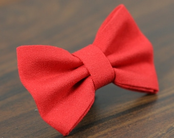 Ready To Ship Bow Tie - Cat or Dog Bow Tie Small or Medium Available- Simply Red