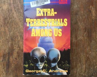 1992 Vintage Occult Book Extra-Terrestrials Among Us, George C. Andrews, Llewellyn's Psi-Tech Series, Occult, UFOs, Supernatural, Used Books