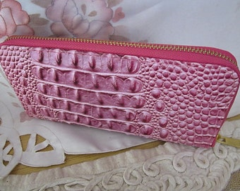Touch-and-Feel Bubbles Pattern Long Clutch Wallet Zip Card Holder Purse, Vintage