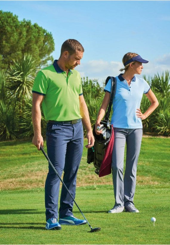 Golf trousers for women in different colors.