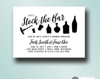 stock the bar invitation printable | couples shower invite | engagement party | bar stock shower