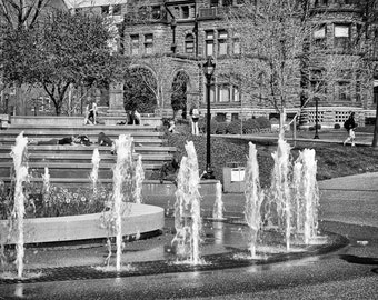 Saint Louis University - Water Fountain - St Louis - Fine Art Photograph 5x7 8x10 11x14 16x20 24x30