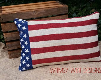 American Flag Accent Pillow
