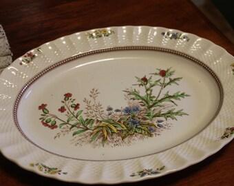 "Vintage Copeland Spode China, from England, Large serving Platter, Rosalie 13"" x 10"""