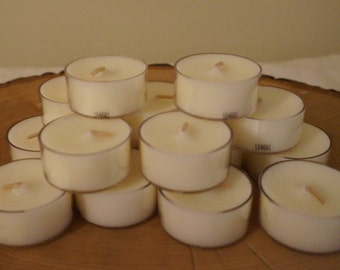 12 Ivory Unscented Tea Lights