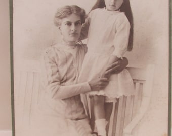 Edwardian Photograph/Studio Portrait of a Mother and Child