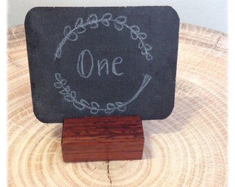 Table number chalkboard