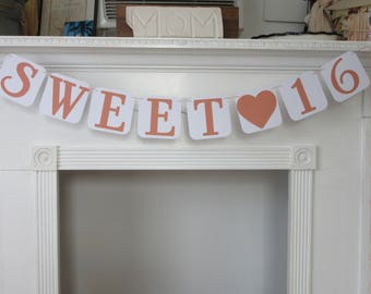 Sweet 16 Birthday Banner 16th Birthday Banner