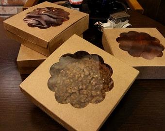 5pcs Mini tart box, mini pie box, cute pie box, small pie box, tartlet box, pastry box, gift box, wedding favor box, pie gift box, tart gift
