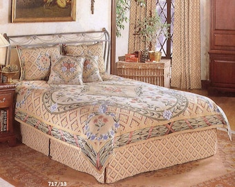 tapestry bedspread Savonnerie - tapestry coverlet - queen size besdpread - french decor bedspread