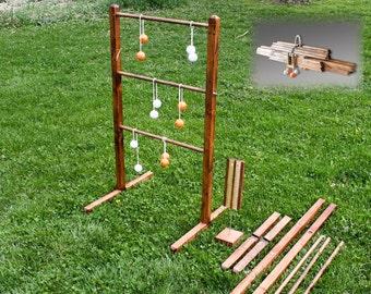 Ladder ball Games Wooden Ladder Toss Yard Games wedding lawn games outdoor games Ladder golf Ball game Hillbilly golf ladder toss beach game