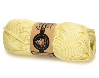04 Light Yellow Mayflower Organic Cotton 8/4 50g
