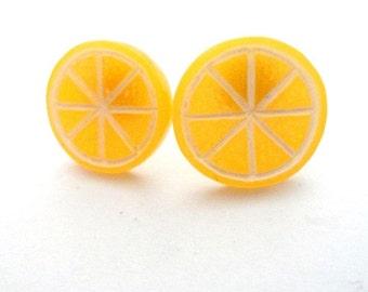 Earrings Orange Fruit