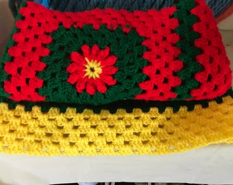Boldly colored baby blanket