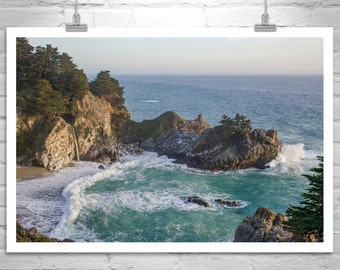 Big Sur Picture, Ocean Photography, California Beach Art, Big Sur Art, California Coast, McWay Falls, Pacific Coast Highway 1, Big Sur Gift