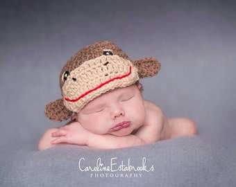 Newborn Monkey Hat OR Set