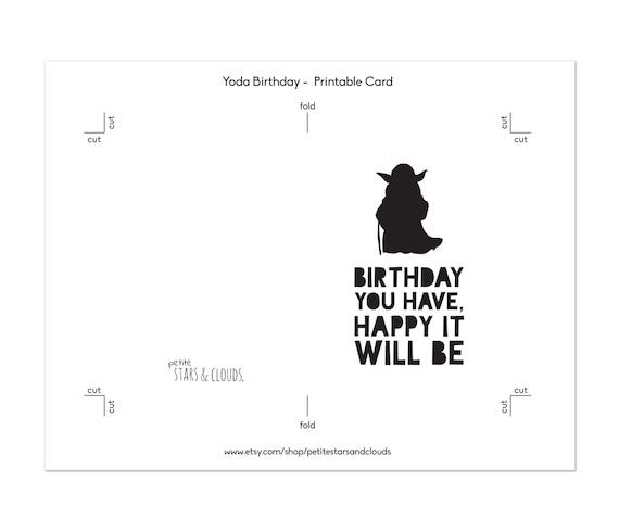 Star wars bithday yoda card star wars birthday card star wars bithday yoda card star wars birthday card birthday card star wars party happy birthday princess yoda birthday print bookmarktalkfo Gallery