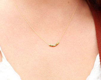 Teacher Gift, Co-worker Gift, Dainty Gold Necklace, Rose Gold Necklace, Gold Nugget Necklace, Delicate Necklace, Best Selling item