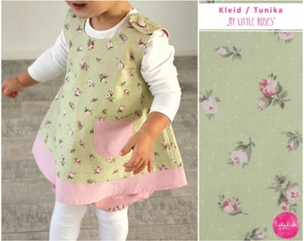 Baby girl Toddler Dress Tunic Tunic First birthday outfit cotton dress carrier dress with bag