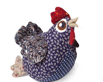 Chicken gift animal Gift chicken toy stuffed chicken Hen kitchen décor Stuffed chicken doll Sleeping room décor Chicken for girl for mother