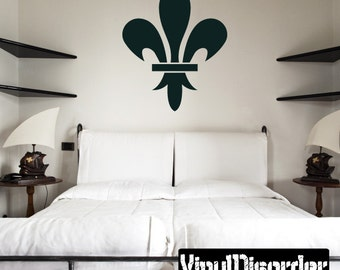 Fleur Delis Wall Decal - Wall Fabric - Vinyl Decal - Removable and Reusable - FleurDeLisUScolor004ET