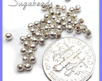 Bulk Buy -  Round Silver Plated Spacer Beads 2mm Approx 1400 beads