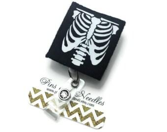 Radiographer ID Badge Reel - X Ray Retractable Badge Reel - Badge Holder - X Ray Id Badge Reel - Glow-in-the-Dark X Ray Id Badge Reel