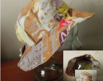 Hat style sunbonnet summer cotton reversible fancy with adaptable system