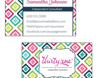 Thirty One Business Card - Candy Corners Inspired