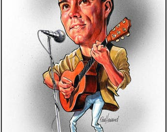 Don Howard's Depiction Dave Matthews_A Edition Celebrity Caricature