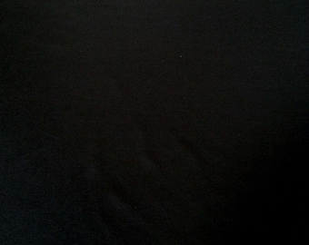 """Black Bamboo Spandex Fabric Jersey Knit by the Yard 60""""W KH129"""